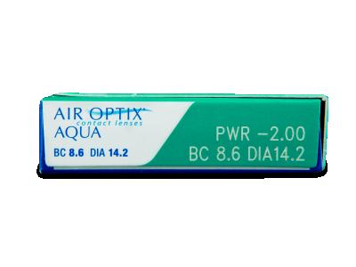 Air Optix Aqua (3lente) - Attributes preview