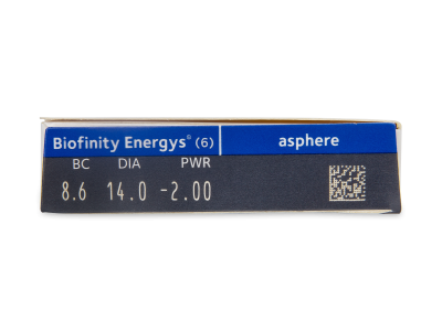 Biofinity Energys (6 lente) - Attributes preview