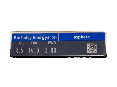 Biofinity Energys (6 lente) - Attributes preview