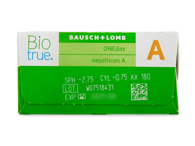 Biotrue ONEday për Astigmatism (90 lente) - Attributes preview