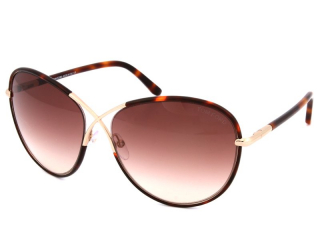 Syze Dielli Oversize - Tom Ford Rosie FT0344 56F