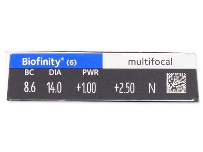Biofinity Multifocal (6 lente) - Attributes preview