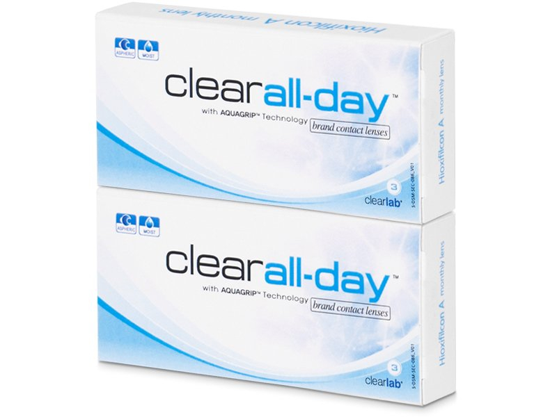 Clear All-Day (6lente) - Monthly contact lenses