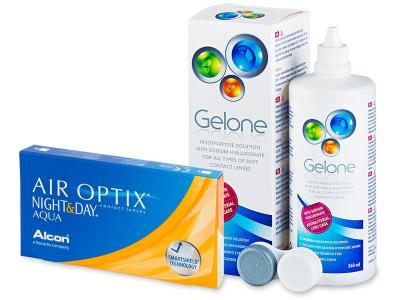 Air Optix Night and Day Aqua (6lente) +GeloneSolucion 360ml - Package deal