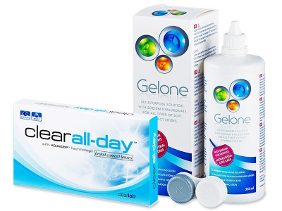 Clear All-Day (6lente) +GeloneSolucion 360ml - Package deal