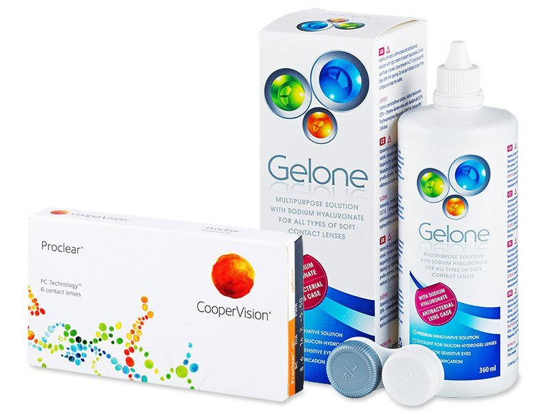 Proclear Compatibles Sphere (6lente) +GeloneSolucion360ml - Package deal