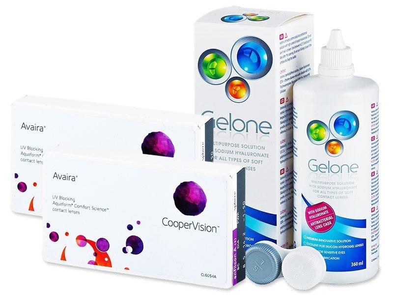 Avaira (2x3lente) +GeloneSolucion 360ml - Package deal