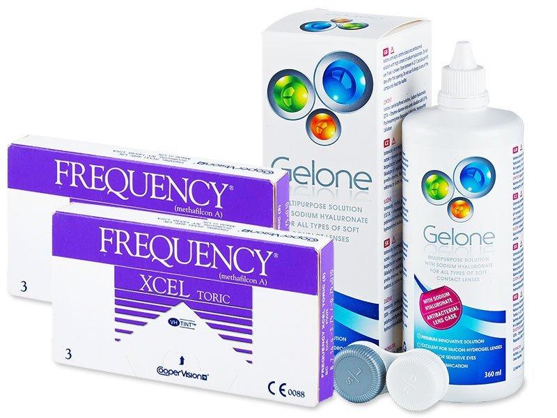 FREQUENCY XCEL TORIC (2x3lente) +GeloneSolucion 360ml - Package deal