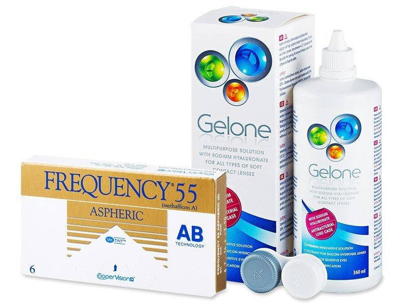 Frequency 55 Aspheric (6lente) +GeloneSolucion360ml - Package deal