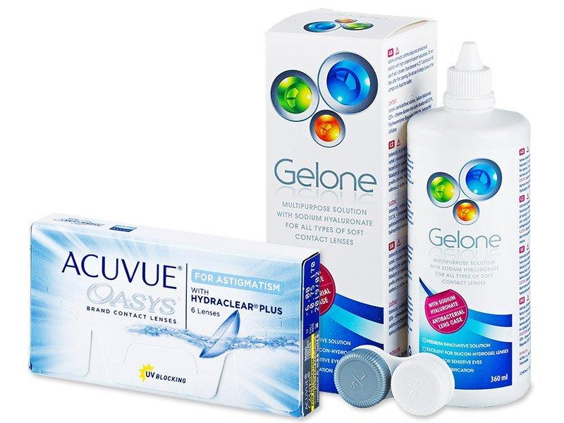 Acuvue Oasys for Astigmatism (6lente) +GeloneSolucion 360ml - Package deal