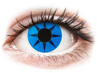 ColourVUE Crazy Lens - Blue Star - Lente me Ngjyre (2 lente)