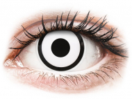 Lente me ngjyrë me numër - ColourVUE Crazy Lens - White Zombie - Lente me Ngjyre & Optike (2 lente)