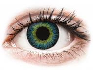 Lente kontakti të Verdha - jo optike - ColourVUE Fusion Yellow Blue - Lente me Ngjyre (2lente)