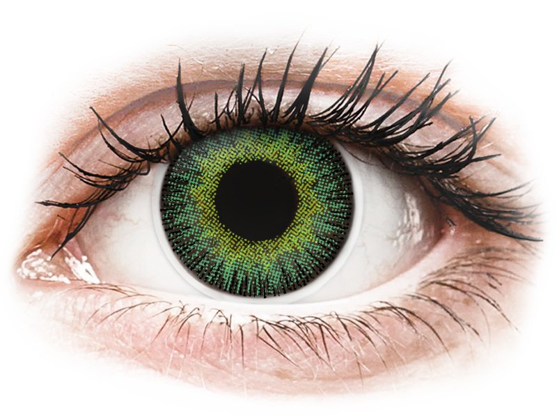 ColourVUE Fusion Green Yellow - Lente me Ngjyre (2lente)