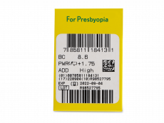 Purevision 2 for Presbyopia (6 lente) - Attributes preview