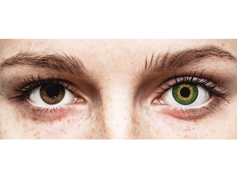 Expressions Colors Green - Lente me Ngjyre & Optike (1 lente)