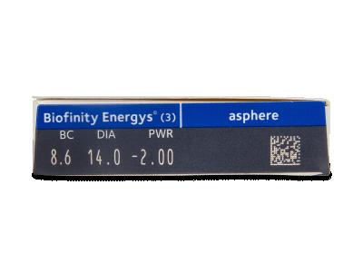 Biofinity Energys (3 lente) - Attributes preview