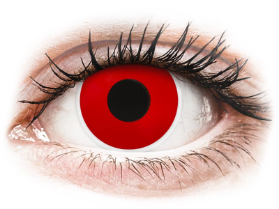 ColourVUE Crazy Lens - Red Devil - Lente kozmetike ditore (2 lente)