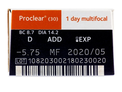 Proclear 1 Day Multifocal (30lente) - Attributes preview
