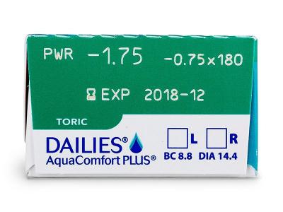 Dailies AquaComfort Plus Toric (30lente) - Attributes preview