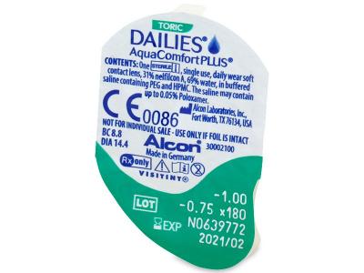 Dailies AquaComfort Plus Toric (30lente) - Blister pack preview
