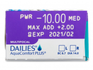 Dailies AquaComfort Plus Multifocal (30lente) - Attributes preview