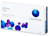Lente kontakti Cilindrike - Biofinity Toric (6lente)
