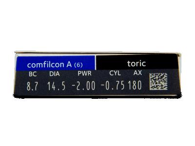 Biofinity Toric (6lente) - Attributes preview