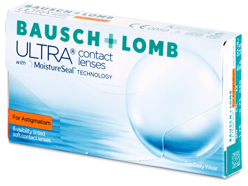 Toric contact lenses - Bausch + Lomb ULTRA for Astigmatism (6 lente)