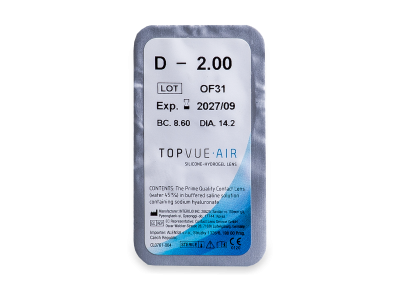 TopVue Air (6 lente) - Blister pack preview