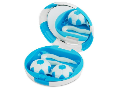 Kuti per Lente pasqyre Football - blu