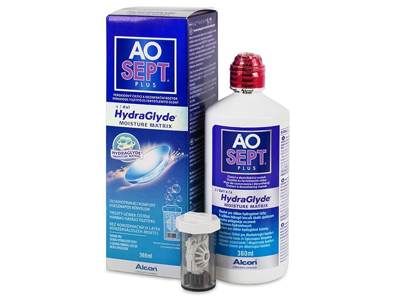 Cleaning solution - AO SEPT PLUS HydraGlyde Solucion 360 ml