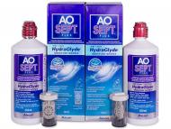 Solucione per lentet e kontaktit - AO SEPT PLUS HydraGlyde Solucion 2 x 360ml