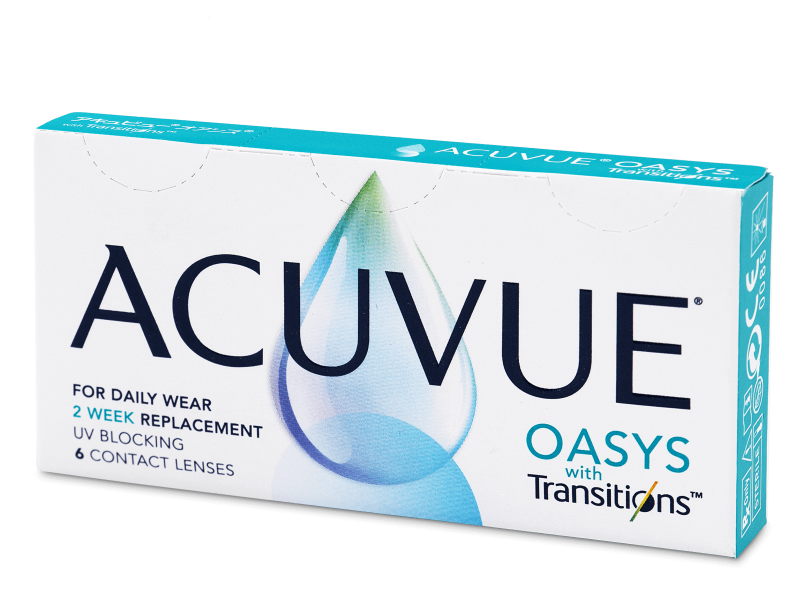 Bi-weekly contact lenses - Acuvue Oasys with Transitions (6 lenses)