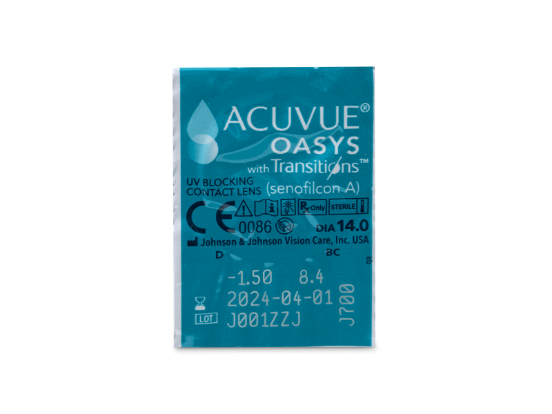 Blister pack preview - Acuvue Oasys with Transitions (6 lenses)