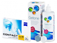 Carl Zeiss Contact Day 30 Spheric (6 lenses) - thjerza per sy + Gelone Solution 360 ml