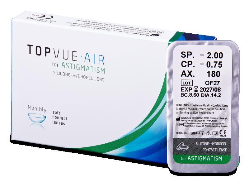 TopVue Air for Astigmatism (1lente) - Toric contact lenses