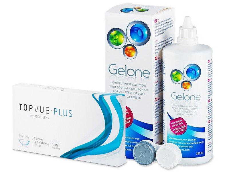 TopVue Plus (6 lente) + Solucion Gelone 360 ml - Package deal