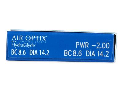 Air Optix plus HydraGlyde (6 lente) - Attributes preview