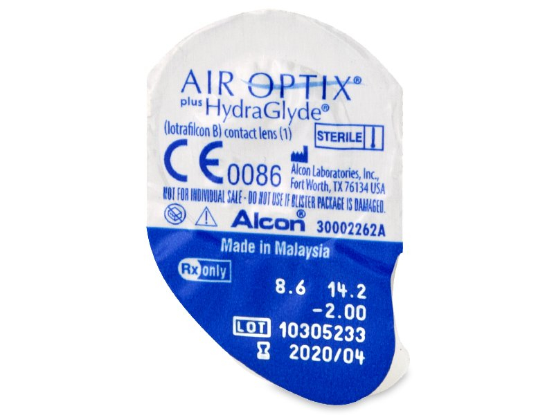 Blister pack preview - Air Optix plus HydraGlyde (6 lente)