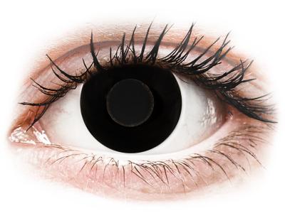 CRAZY LENS - Black Out - Lente optike ditore (2 lente)