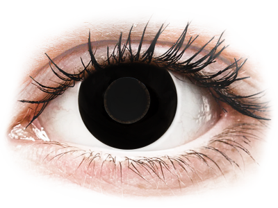 CRAZY LENS - Black Out - Lente kozmetike ditore (2 lente)