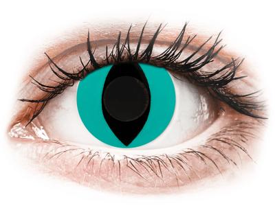 CRAZY LENS - Cat Eye Aqua - Lente kozmetike ditore (2 lente)