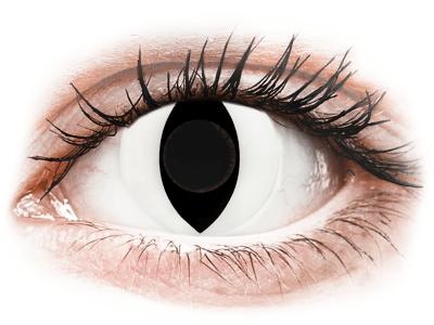 CRAZY LENS - Cat Eye White - Lente kozmetike ditore (2 lente)