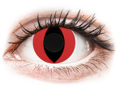 CRAZY LENS - Cat Eye Red - Lente kozmetike ditore (2 lente)