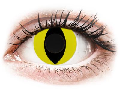 CRAZY LENS - Cat Eye Yellow - Lente kozmetike ditore (2 lente)