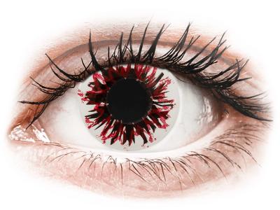 CRAZY LENS - Harlequin Black - Lente kozmetike ditore (2 lente)