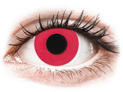CRAZY LENS - Solid Red - Lente kozmetike ditore (2 lente)