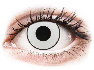 CRAZY LENS - White Black - Lente kozmetike ditore (2 lente)