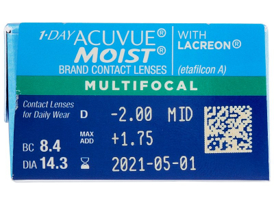 1 Day Acuvue Moist Multifocal (30 lenses) - Attributes preview